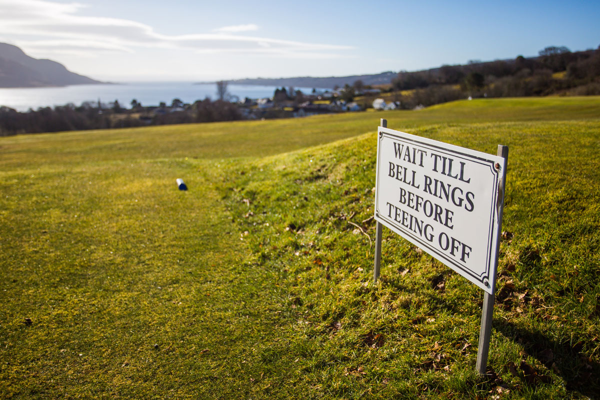 LAMLASH GOLF CLUB, TEE OFF SIGN