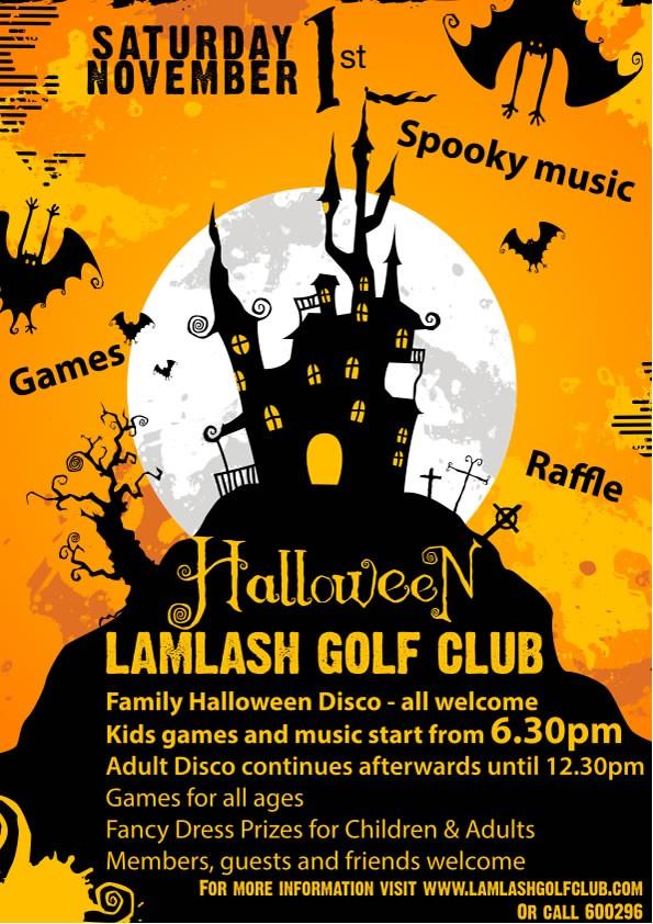 Main Blog  Lamlash Golf Club - November 1 Halloween